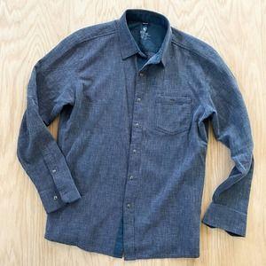KUHL 5 Panel Casual Shirt Blue Chambray Large L